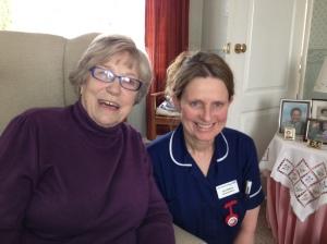 Patricia and community matron Anne Williams