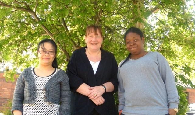 Yeeman, Madeleine and Tania - Through the Maze staff