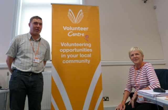 Chris Bulmer and one of his volunteers, Trish