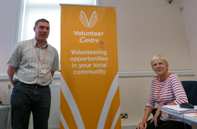 Chris Bulmer and one of his volunteers, Trish