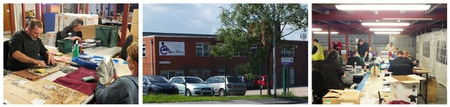 Volunteers at Enabled Works Ltd - a social enterprise in Morley.