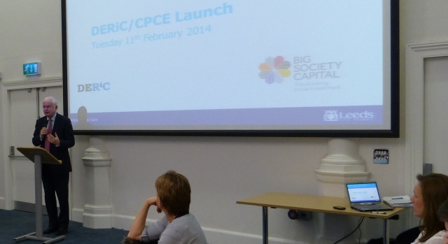Martyn Lewis welcomes everybody to the DERiC launch