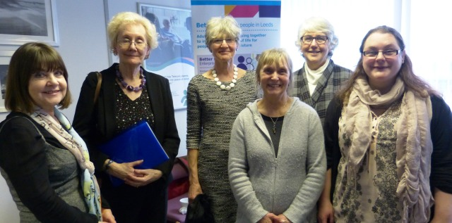 Dame Philippa, along with fellow members of the Standing Commission on Carers meeting carers and guests during their visit