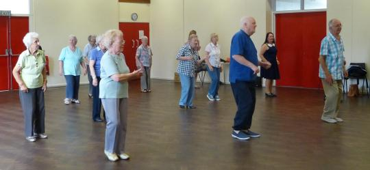 The fitness class at Crossgates Neighbourhood Network