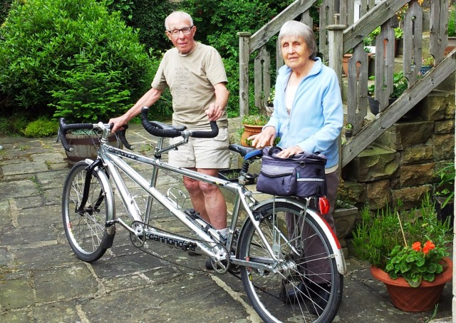 Alan and Pat with their trusty tandem