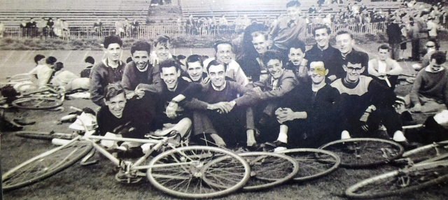 Track cycling at Roundhay Park in the 1950s