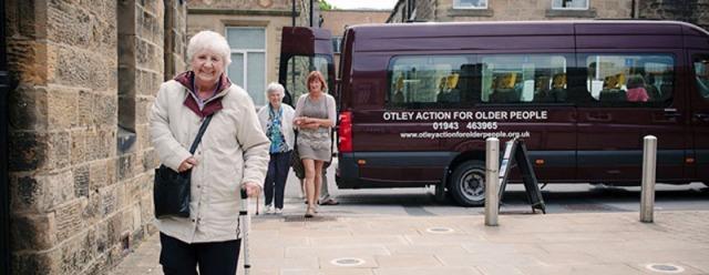 The minibus in action