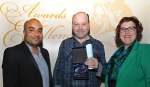 Personal achievement award winner Wayne Walters with Councillor Ogilvie and Sandie Keene