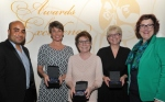 Directors award winners Alison Ward, Shirley Johnson and Lindsay Richardson with Councillor Ogilvie and Sandie Keene