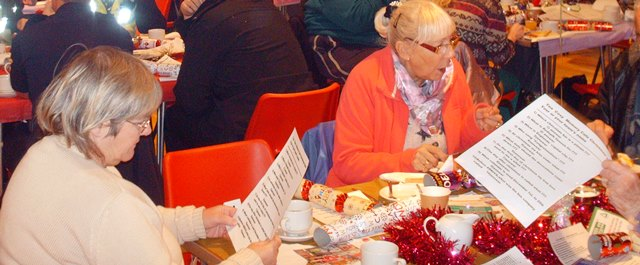 Christmas party at Tea Cosy cafe, Rothwell, Leeds