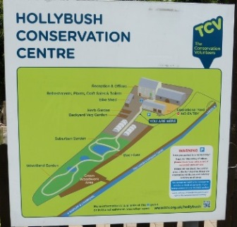 Photograph of the Hollybush Conservation Centre sign