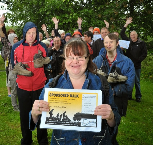 A group of walkers from last year's walk