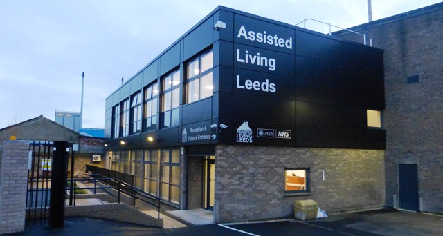 Photo of the outside of the Assisted Living Leeds building