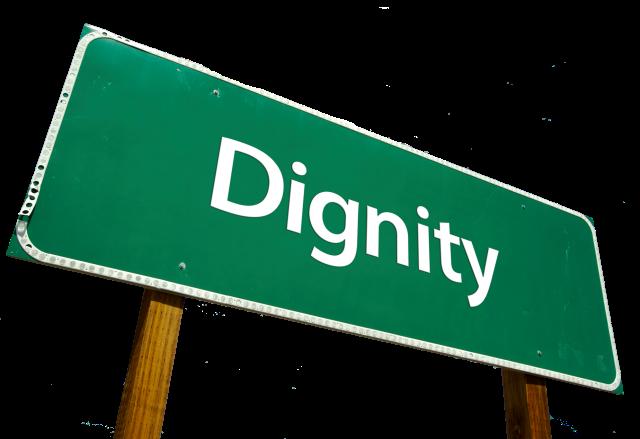 Dignity roadsign