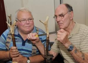 Robin Sherwood (left) teaches Eric Dalton