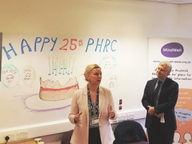 cllr-rebecca-charlwood-and-dr-ian-cameron-at-phrc-25th