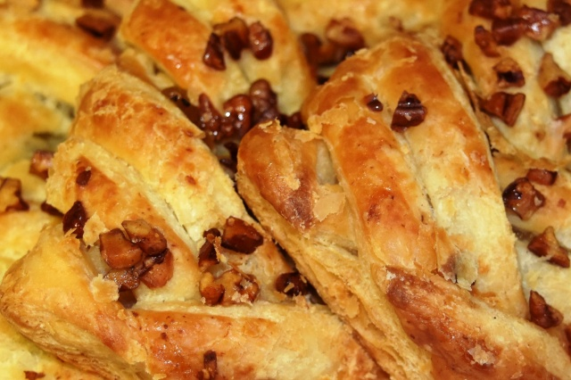 Pecan plaits close up