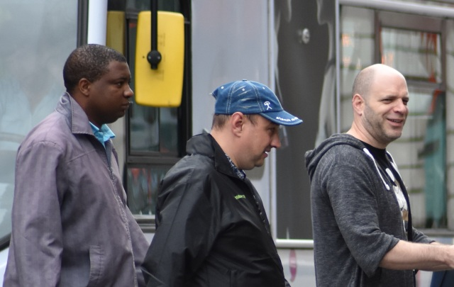 3 guys walking