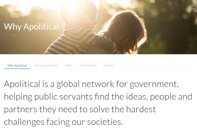 apolitical web page